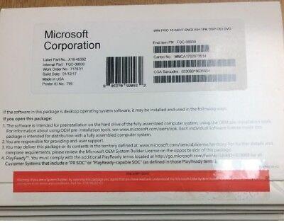 Windows 10 Pro 64 Bit Professional Brand New Sealed Full Version  System Builder