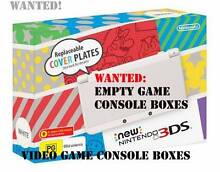 Wanted, Gaming Console Box: YES, I will buy your empty box! Newcastle 2300 Newcastle Area Preview