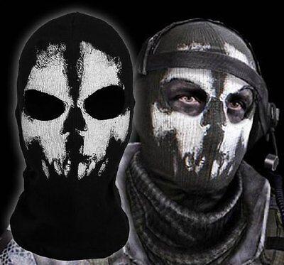 Mascara Disfraz Halloween Fantasma Capucha Cabeza Esqueleto Cráneo Pasamontañas (Halloween Fantasma Disfraz)