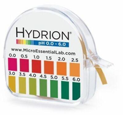 Hydrion Acid Range 0-6 Ph Test Paper Strip Tape Roll Used 4 Kombucha Soap Makin