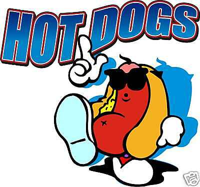 Hot Dogs Concession Hot Dog Cart Fast Food Decal 12