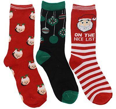 Ladies Christmas Crew Socks Gift Set, Santa's Nice List, Hedgehogs & Decorations
