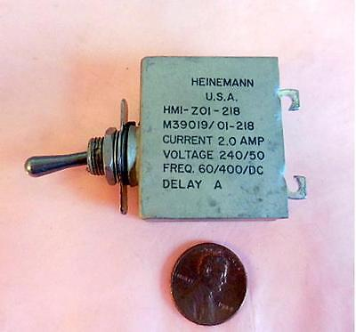 Heinemann Hmi-z01-218 M3901901-218 Aircraft Circuit Breaker A