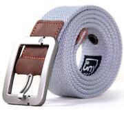 Mens Grey Leather Belt
