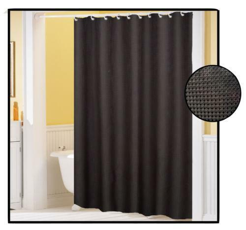 Waffle Weave Shower Curtain | eBay