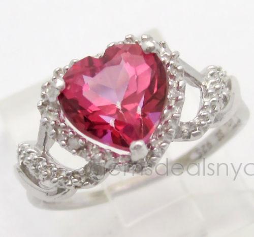 pink heart diamond ring ebay