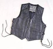 Boys Leather Vest