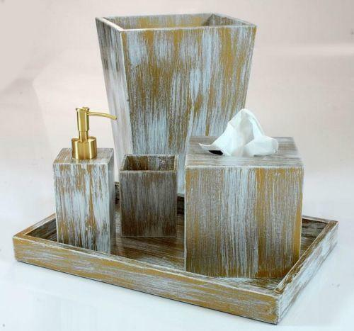 Gold bathroom accessories ebay for Gold bathroom accessories
