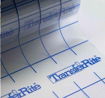 "12"" x 10 yd (30 Ft) TransferRite Ultra Clear (GRID) Medium Tack Transfer Tape"