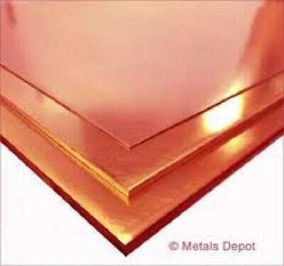 Copper Sheet Plate .0625 X 25 916 X 19 58 3a6