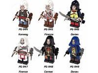 NEW IN SEALED BAGS ASSASSINS CREED MINI FIGURE SET OF 6