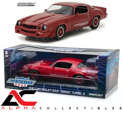 GREENLIGHT 12999 1:18 1981 CHEVROLET CAMARO Z/28 YENKO TURNO Z RED for sale  Graham