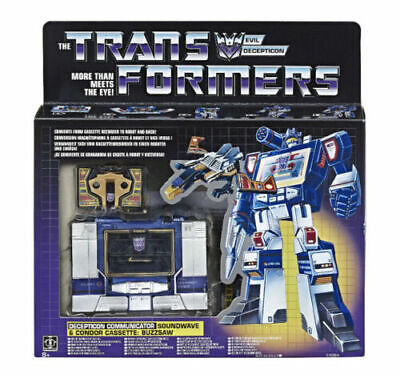 Transformers Soundwave G1 Exclusive Vintage Reissue Buzzsaw Cassette Sealed NEW!