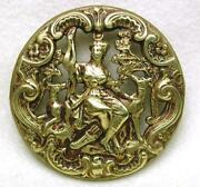 Pierced Brass Button