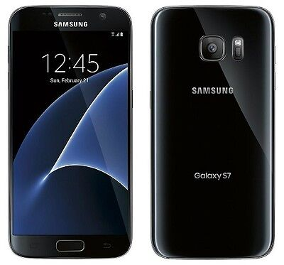 New Samsung Galaxy S7 SM-G930U 32GB Menacing Onyx Factory Unlocked Smartphone