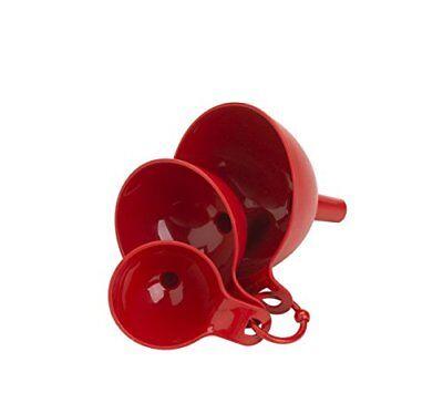 Flotool International 05068 3 Piece Plastic Funnel Set