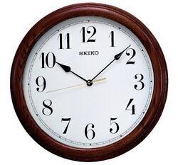 Seiko Wooden Oak Case Wall Clock QXA153B