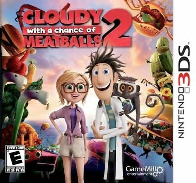 NINTENDO 3DS CLOUDY WITH A CHANCE OF MEATBALLS 2 BRAND NEW VIDEO GAME