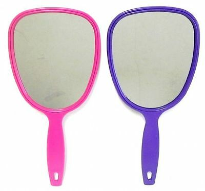 Hand Mirror 2 Pack 11 inch 2 Colors New Free Shipping