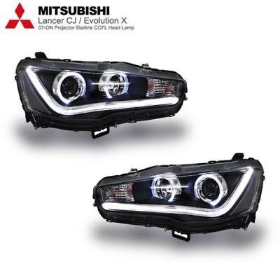 PROJECTOR HEADLIGHT SMOKE LAMP FOR MITSUBISHIE volution 10 X LANCER EX 09-14 LED