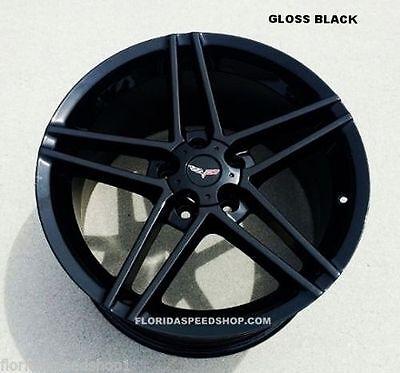 "Black C6 Z06 Corvette wheels 17/18"" Combo 1997-2004 C5 Fitment  for sale  USA"