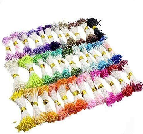 900pcs Lot Multicolor Pearl Flower Stamen Pistil 1mm Floral Stamen 10 Colors