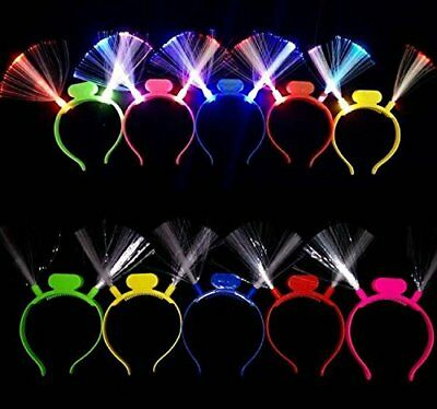 LED Light Up Fiber Optic Headbands for Party Princess Costume Cosplay Toy 12 PC](Led Light Up)