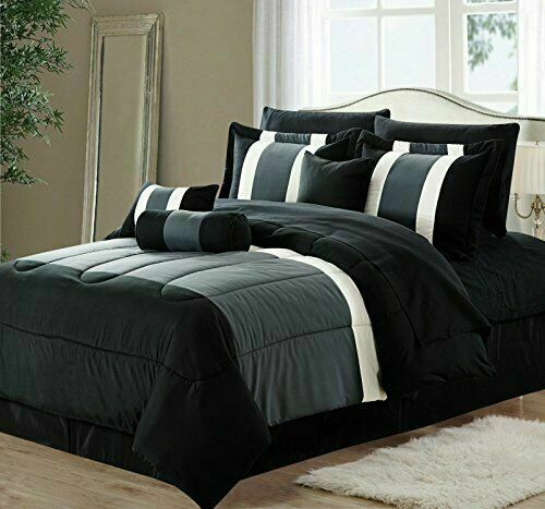 New Empire Home Gray Black 3-Tone Comforter Set End of Year Sale 50% Off!!!