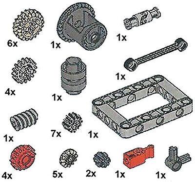 Lego Technic Gear Kit (link,joint,ev3,frame,robot,car,transmission,differential) - Lego Gear Set