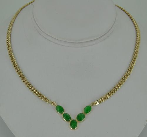 Green Jade Pendant 14k
