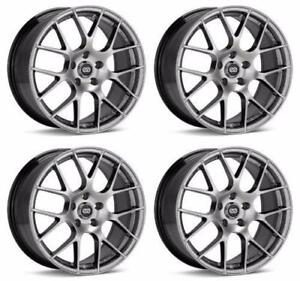 Enkei wheel Black Friday special ENKEI 467-880-6540HS Set of 4 Hyper Silver Raijin 18x8 Rims 5x114.3 +40mm Offset