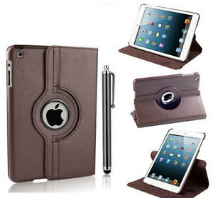 BROWN 360 ROTATING PU LEATHER CASE COVER WITH STAND FOR IPAD AIR Regina Regina Area image 6
