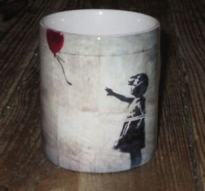 Banksy Street Art Graffiti Girl Balloon  MUG