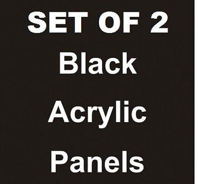 2ea - 22 X 28 Black Acrylic Replacement Panels Sandwich Board Sidewalk Sign