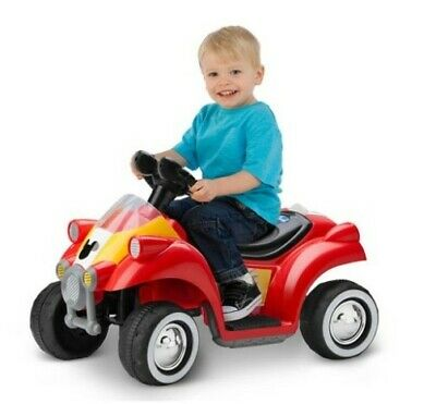Disney Mickey Mouse Hot Rod Quad Battery-Powered Ride-On 4-Wheeler (Mickey Mouse Battery Powered Ride On Toy)