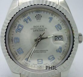 Rolex Datejust II 41MM 116334 blue numberes