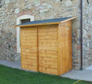 Box casetta in di legno 234x124 porta singola ricovero - Porta attrezzi da giardino in legno ...