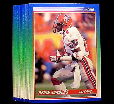 Footballs Bulk Buy (1990 Score DEION SANDERS ~ 10 CARD LOT ~ BUY MORE LOTS & SAVE $$$ )