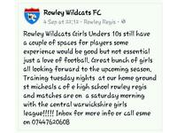 Wanted - Girls year 5 for U10 football team
