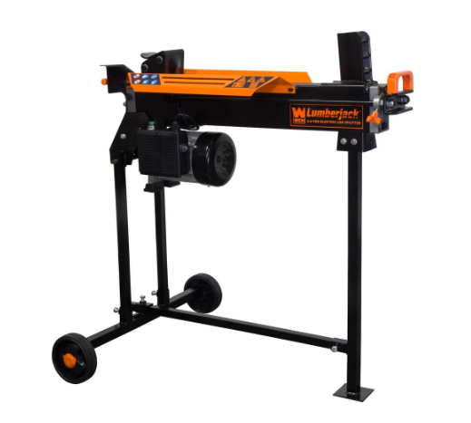 Wen 56207 6.5-Ton Electric Log Splitter with Stand, 2-Handle