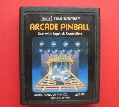 Arcade Pinball Atari 2600 Tele-Games Sears Picture Label Game *Cleaned & Tested*