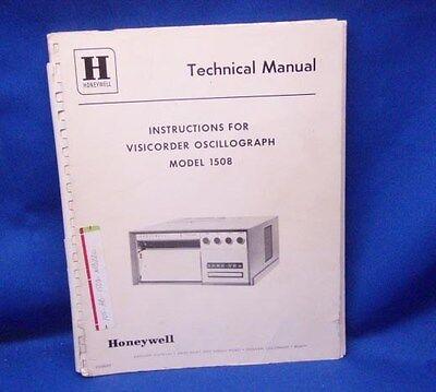 Honeywell Model 1508 Oscillograph Technical Manual