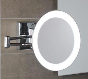 Specchio koh i noor discolo per da bagno doppio ingrandimento con luce a led - Specchio ingranditore bagno ...