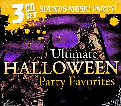 ULTIMATE HALLOWEEN PARTY FAVORITES: SPOOKY SONGS & SOUND EFFECTS 3-CD SET! - Halloween Party Songs Cd