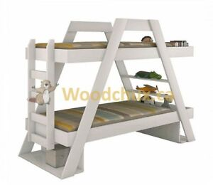 CLASSIC - A - FRAME Twin Size BUNK BEDS .. ♥‿♥