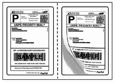 100 Perforated Usps Paypal Round Corner Shipping Labels