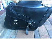 Leather saddle bags / panniers