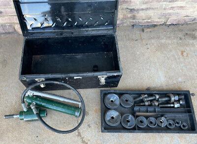 Greenlee Hydraulic Knockout Punch Set Greenlee 767 Pump 746 Ram