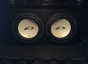 Two subwoofers, box and amp