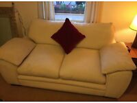 Cream luxury sofa set / settee/ couch and pouffe